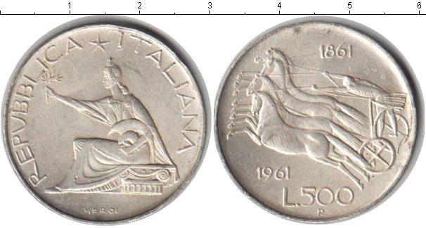 Картинка Монеты Италия 500 лир Серебро 1961
