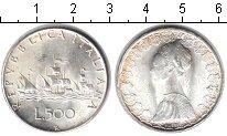 Изображение Монеты Италия 500 лир 1966 Серебро UNC-