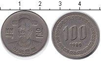 Изображение Монеты Южная Корея 100 вон 1980 Медно-никель  .