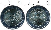 Изображение Мелочь Литва 2 евро 2015 Биметалл UNC