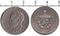 Изображение Монеты Куба 20 сентаво 1962 Медно-никель