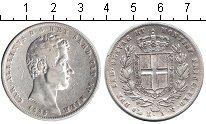 Изображение Монеты Сардиния 5 лир 1835 Серебро VF