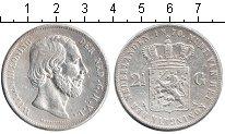 Изображение Монеты Нидерланды 2 1/2 гульдена 1870 Серебро VF Виллем III