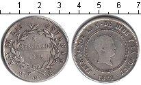 Изображение Монеты Испания 10 реалов 1821 Серебро  Фердинанд VII