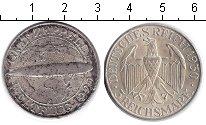Изображение Монеты Веймарская республика 3 марки 1929 Серебро VF Цеппелин