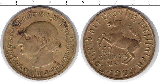 Картинка Монеты Вестфалия 50.000.000 марок Медь 1923