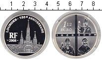 Изображение Монеты Франция 1 1/2 евро 2008 Серебро Proof-