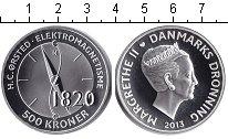 Изображение Монеты Дания 500 крон 2013 Серебро Proof- Компас