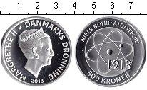 Изображение Монеты Дания 500 крон 2013 Серебро Proof- Атом