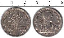 Изображение Мелочь Индокитай 20 центов 1939 Медно-никель XF