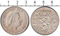 Изображение Монеты Нидерланды 2 1/2 гульдена 1962 Серебро XF