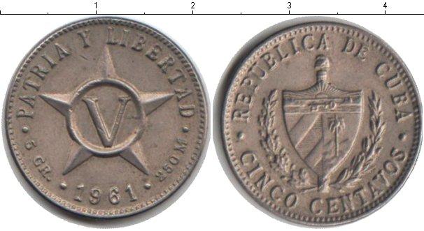 Картинка Монеты Куба 5 сентаво Медно-никель 1961