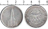 Изображение Монеты Третий Рейх 5 марок 1934 Серебро VF D. Церковь