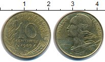 Изображение Дешевые монеты Франция 10 сантим 1989