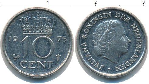 Картинка Барахолка Нидерланды 10 центов  1973