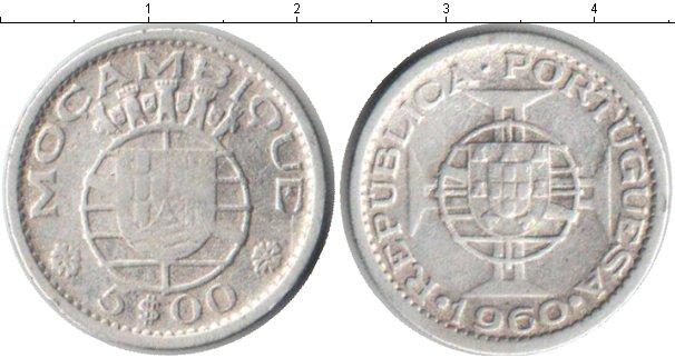Картинка Монеты Мозамбик 5 эскудо Серебро 1960
