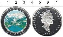 Изображение Монеты Канада 20 долларов 2003 Серебро Proof- Горное озеро