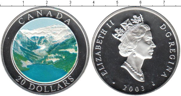 Картинка Монеты Канада 20 долларов Серебро 2003