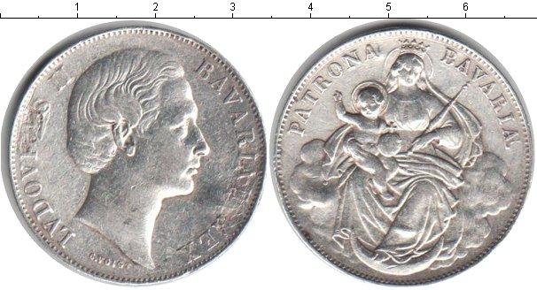 Картинка Монеты Бавария 1 талер Серебро 1865