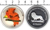 Изображение Монеты Конго 10 франков 2004 Серебро Proof- птица