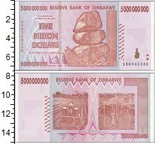 Изображение Боны Зимбабве 5000000000 долларов 2008  UNC-