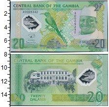 Изображение Банкноты Гамбия 20 даласи 2014  UNC- Яйя Джамме. Карминов
