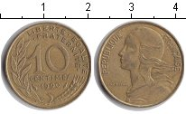 Франция 10 сантимов 1990