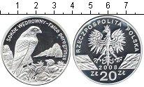 Изображение Монеты Польша 20 злотых 2008 Серебро Proof- Сокол