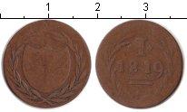 Изображение Монеты Франкфурт 1 пфенниг 1819 Медь