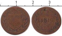 Изображение Монеты Германия Франкфурт 1 пфенниг 1819 Медь