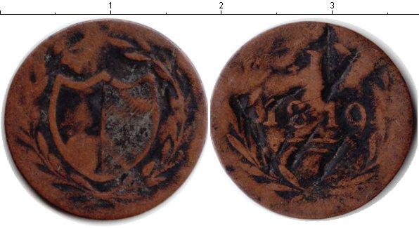 Картинка Монеты Франфуркт 1 пфенниг Медь 1819
