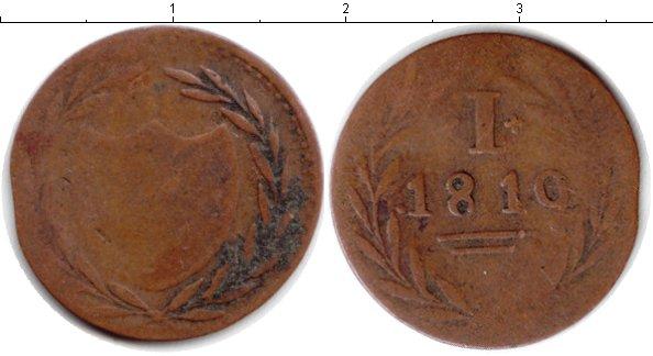 Картинка Монеты Франкфурт 1 пфенниг Медь 1819