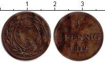 Изображение Монеты Франфуркт 1 пфенниг 1819 Медь VF