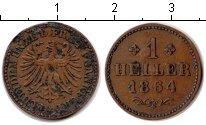 Изображение Монеты Франфуркт 1 геллер 1864 Медь VF