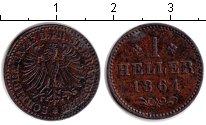 Изображение Монеты Франфуркт 1 геллер 1861 Медь XF
