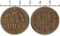 Изображение Монеты Немецкая Африка 20 геллеров 1916  VF