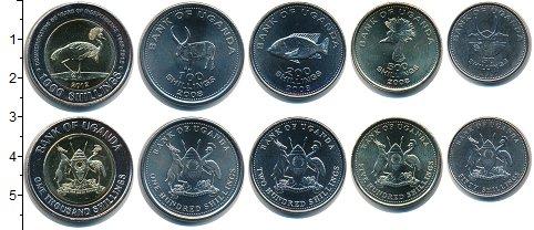 Изображение Наборы монет Уганда Уганда 2012-2015 0  UNC- В наборе 5 монет ном