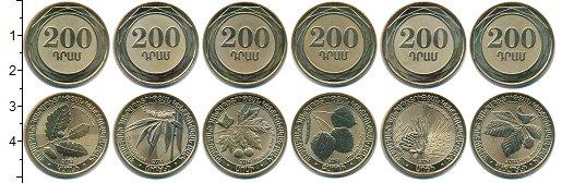 Изображение Наборы монет Армения Армения 2014 2014  UNC В наборе 6 монет ном
