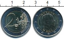Изображение Мелочь Монако 2 евро 2014 Биметалл UNC-