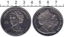 Изображение Мелочь Великобритания Аскенсион 2 фунта 2012 Медно-никель UNC-