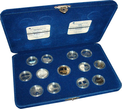 Изображение Подарочные монеты Канада Набор 25-центовых монет 1992 Серебро Proof Подарочный набор сер
