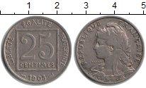 Изображение Мелочь Франция 25 сентим 1903 Медно-никель XF