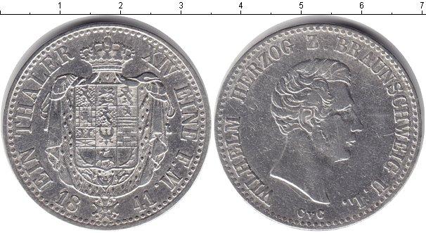 Картинка Монеты Брауншвайг-Вольфенбюттель 1 талер Серебро 1841