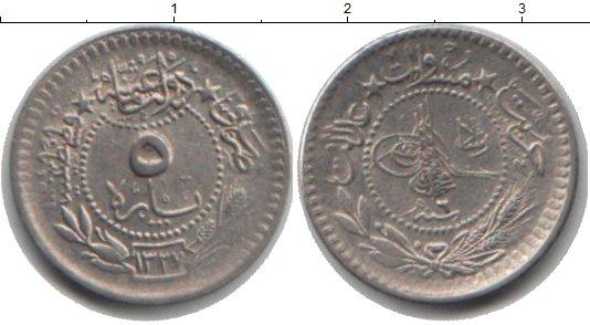 Картинка Монеты Турция 5 пар Медно-никель 1327