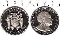 Изображение Монеты Ямайка 1 доллар 1974 Медно-никель Proof- Премьер министр Буст
