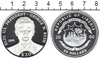 Изображение Монеты Либерия 20 долларов 2000 Серебро Proof- XLIII-й Президент СШ