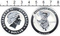 Изображение Монеты Австралия 1 доллар 2015 Серебро Proof Австралийский коала