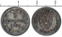 Изображение Монеты Нассау 3 крейцера 1831 Серебро