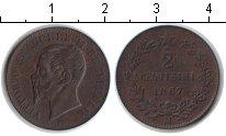 Изображение Монеты Италия 2 сентесимо 1867 Медь XF Витторио Имануил II