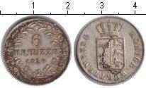 Изображение Монеты Вюртемберг 6 крейцеров 1840 Серебро XF